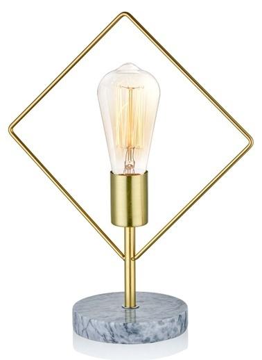 The Mia Abajur Gold 35 x 28 x 13 Cm (Mermer Ayak) Altın